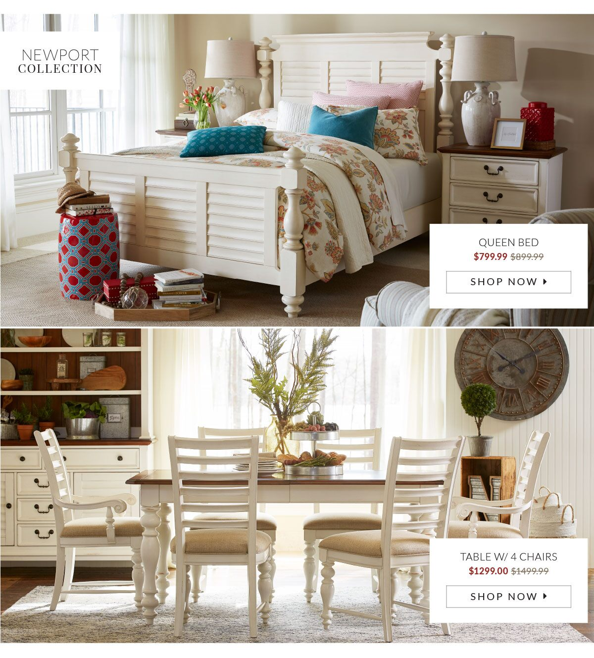 Beckett Sectional Beckett Sectional Newport Collection: Queen Bed ($899.99)  And Table With Chairs ($1399.99) ...